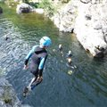 jumps water rambling with kids Antipodes Millau
