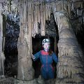 caving introduction with children family Antipodes Millau