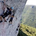 outing with friends ferrata Millau Antipodes