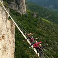 footbridge via ferrata Antipodes Millau