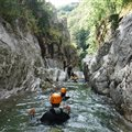 Antipodes canyoning jump in the river